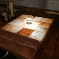 DIYアイデア投稿コンテスト テーブルの中央に岩塩を設置、コーティング…