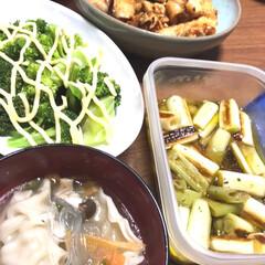 鶏むね/ネギのマリネ/ウララさんレシピ/おうちごはんクラブ/フード/スープ餃子 今日の晩ご飯です😊 具だくさんスープ餃子…