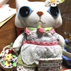 コロナが早く収束しますように/花ねこ人形/花ねこ/保護猫活動支援/フェアトレード/アールグレイ/... 今日はお休みでしたが、家族もみんな休み、…(10枚目)