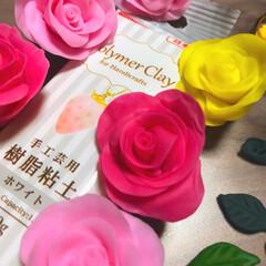 薔薇/樹脂粘土/令和元年フォト投稿キャンペーン/令和の一枚/雑貨/LIMIA手作りし隊/... またまた樹脂粘土の薔薇🌹 黄色いのも作っ…
