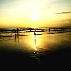 浜辺/海/夕陽/クタビーチ/バリ島