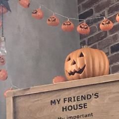 ジャクオーランタン/DIY/ドールハウス/りんご箱/秋/ハロウィン りんご箱に蓋をつけてドールハウスに!  …