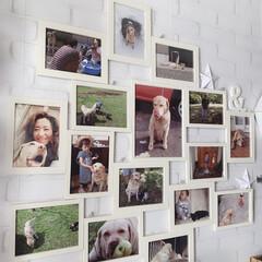 フォトフレーム/LIMIAペット同好会/フォロー大歓迎/ペット/犬/DIY/... 玄関を開けると直ぐに大きなフォトフレーム…(1枚目)