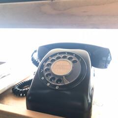 グリーン/昭和/黒電話/DIY/雑貨 本物の黒電話を手に入れました  懐かしす…