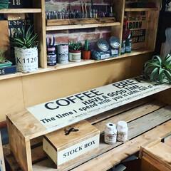 キセロ/ミルクペイント/ラック/シェルフ/雑貨/DIY/... 大きな棚にはめる仕切り棚を作りました  …