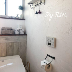 トイレ/トイレ収納/100均/DIY/雑貨/住まい/... いつもは真っ白なトイレットペーパーの我が…