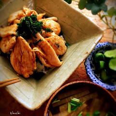 サッパリ/和食/お財布に優しい/どんぶり/おうちごはん 鶏ワサ丼🐔
