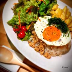 タイ料理/ガパオライス/日本の夏/器好き/器のある暮らし/おうちカフェ/... ガパオライス