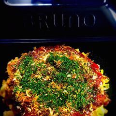 家呑み/粉もん/Brunoコンパクトホットプレート/お好み焼き/LIMIAごはんクラブ/おうちごはんクラブ/... おうちでお好み焼き♬ ・豚玉 ・豚チーズ…