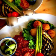 夏野菜/カレー/カフェ飯/おうちカフェ/器好き/器のある暮らし/... わが家の定番♬ ルーを一切使わない 〜チ…