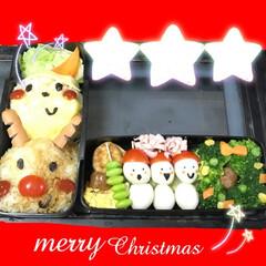 クリスマスデコ弁/デコ弁/パパ弁当 平日クリスマスのパパ弁当♪ クリスマスを…