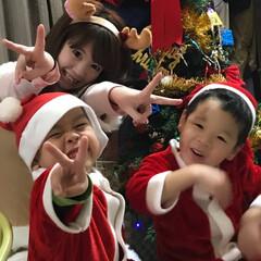 クリスマス/コスプレ/親子コスプレ/サンタコス/トナカイコス/クリスマスパーティー/... クリスマス親子コスプレ♫ パーティーは子…