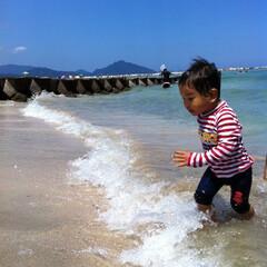 波/海/海水浴 波と戯れ♪