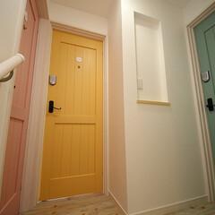 ペット共生/シェアハウス/猫と暮らす/ドア/扉 猫と暮らすシェアハウス