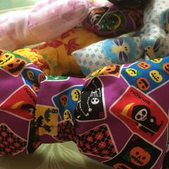 ハロウィン/蝶ネクタイ/クラウン/ハンドメイド ハロウィン柄&和柄の蝶ネクタイ作製。 ク…