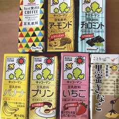 チャレンジ/豆乳/大人買い イオンで見つけた、色々な種類の豆乳。 本…(1枚目)