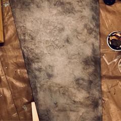 作業台/ヴィンテージ/スマホ置き場/ディキシーブルー/漆喰/ミルクペイント/... ほぼほぼ完成品です! いろんな向きで棚に…(3枚目)