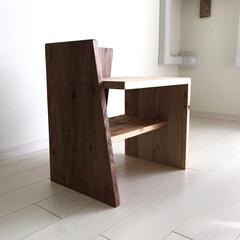 チェア/椅子 /靴箱/シューズボックス/スツール/インテリア/... 玄関スツール完成! ソリッドモダンなデザ…