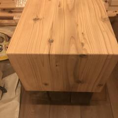 ベンチ/テレビボード/DIY/家具/住まい/収納/... 木目を活かして留め継ぎまでして丁寧に作ら…