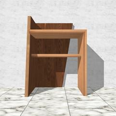 ミニデスク/棚/ソファ/ベンチ/スツール/エントランス/... 【杉総無垢材の玄関スツール/サイドテーブ…