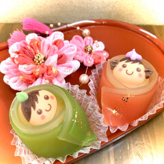 和菓子/ピンク うちの和菓子屋で大人気❣️