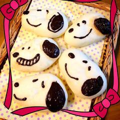手作りパン/おうちごはん #キャラパン #チョコカスタード入り #…