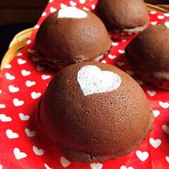 バレンタイン/手作りパン/バレンタイン2020 ショコラスウィートブール♡  ココア生地…(1枚目)