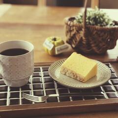 cafeトレー/タイル/100均/ダイソー/セリア/インテリア/... 初めてのタイル✨ caféトレーを作って…