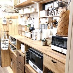 キッチン/kitchen/DIY/SPF材/改造中/セルフリノベーション/... お久しぶりでございます。。。 1枚目 A…