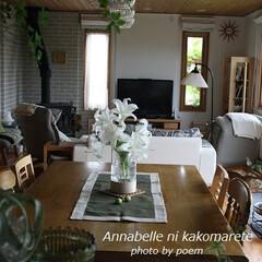 リネン/テーブルランナー/カサブランカ/模様替え ツートンカラーが素敵なリネンのテーブルラ…
