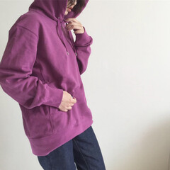 ユニジョ/UNIQLOU/ママコーデ/ママファッション/プチプラ/プチプラコーデ/... UNIQLOUの新作パーカー!! 色はパ…