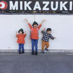 KIDS/子供服/カジュアル/カジュアルコーデ/お揃い/リンクコーデ/... 先日旅行に行った時の子供達。 姉妹はお揃…