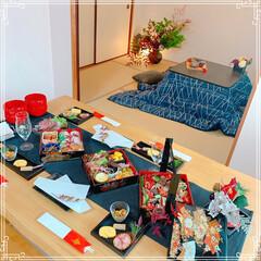 和室/お正月の花/テーブルコーディネート/おせち料理/お正月料理/お正月2020/... 今年のお正月🎍