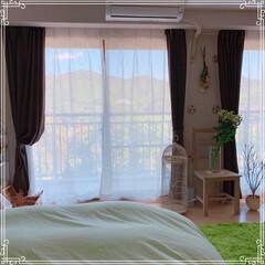 寝室の窓/寝室インテリア/寝室雑貨/寝室/令和の一枚/フォロー大歓迎/... 本日は快晴です❤️ 北側の広めの寝室から…(3枚目)