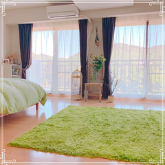 寝室の窓/寝室インテリア/寝室雑貨/寝室/令和の一枚/フォロー大歓迎/... 本日は快晴です❤️ 北側の広めの寝室から…