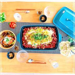 お昼ごはん/ペッパーランチ風/ブルーノホットプレート/キッチン雑貨/住まい/暮らし/... 作ってみたかったペッパーランチ風ご飯 美…