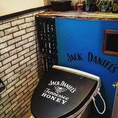 男前インテリア/タンクレス/リメイクシート/ステンシル トイレをタンクレスに(♡˘罒˘)  BA…