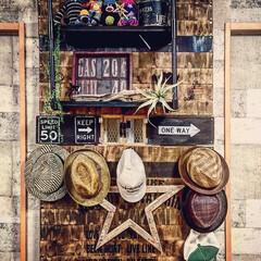 男前インテリア/ディアウォール/板壁/塩ビパイプ ラック ディアウォールで板壁を作り 塩ビパイプの…
