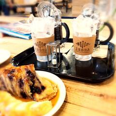 カフェZEBRA/クロワッサン/アイスコーヒー/冷たい飲み物選手権 昨日、娘と近くのカフェに行きました。 Z…