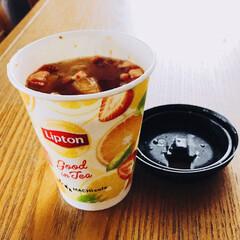 紅茶/グットインティー/LAWSON/フード ローソンの、今日発売のグットインティー飲…