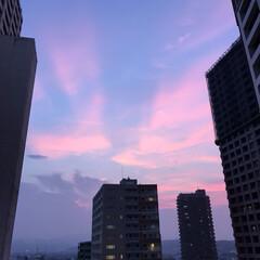 夏/夕焼け/空 夏空  その2 今日の19時過ぎの空です…