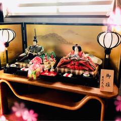 ひな祭り/お雛様/名古屋めし/あんかけスパゲッティ/グルメ/フード 何年かぶりに、娘のお雛様を出しました😊✨…