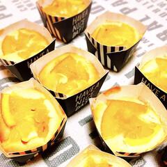 マフィン/クリームチーズ/オレンジ /LIMIAスイーツ愛好会 職場の仲良しさん💕のお誕生日なので、オレ…