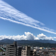 雲/空/夏 夏空 その4 今日の朝の空はベランダから…(1枚目)