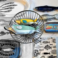 皿/魚グッズ/ポーチ/魚の雑貨/キッチン雑貨/雑貨/... 少しずつ集めた魚達🐟 ポーチやキッチン小…