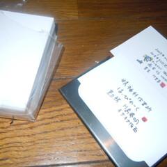 名刺/名刺入れ 100均の名刺入れと名刺台紙2つセットで…
