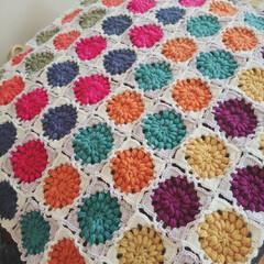 モチーフつなぎ/モチーフ編み/編み物/ハンドメイド 久々に熱中したモチーフ編み♡ もう少し編…