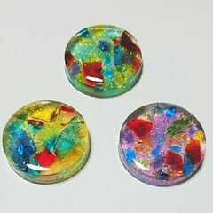 カラフル/透明感/ヘアアクセサリー/ポニーフック/ガラスカレット/さざれ石/... 夏らしいものをと考え!二種類のモチーフ完…