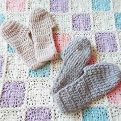 冬物/ニット/毛糸/ルームソックス/編み物/手芸/... 最近めっきり寒くなってきたので、自分用と…