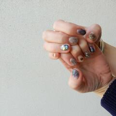 ネイル/nail/美容/ファッション 春を意識したニュアンスカラー 春nail…
